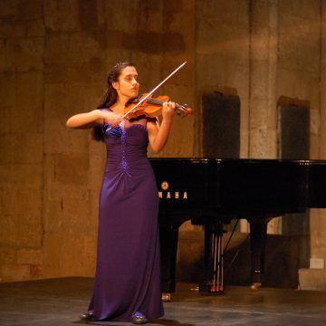 Más música en la provincia con el violín de María del Mar Jurado y el Festival Joven de MUSEG