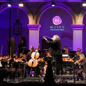 Más de 300 personas respaldan a la Orquesta Ciudad de Segovia y Peter Schmidt durante su actuación en MUSEG
