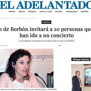 EL ADELANTADO: La Juan Borbón invitará a 20 personas que nunca han ido a un concierto