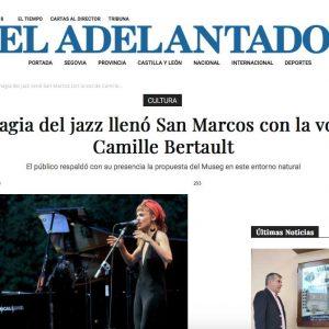 EL ADELANTADO: La magia del jazz llenó San Marcos con la voz de Camile Bertault