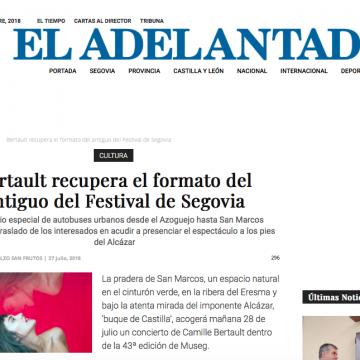 EL ADELANTADO: Bertault recupera el formato del antiguo del Festival de Segovia