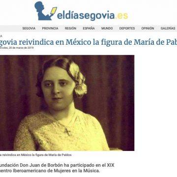 eldíasegovia: Segovia reivindica en México la figura de María de Pablos