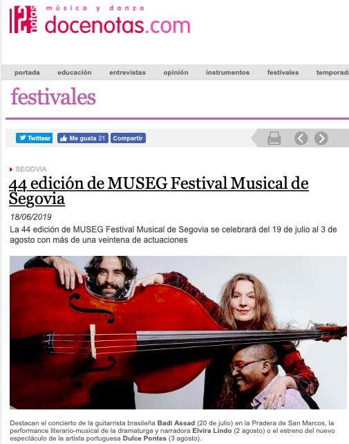 docenotas.com: 44 edición de MUSEG Festival Musical de Segovia