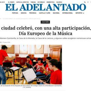 EL ADELANTADO: La ciudad celebró, con una alta participación, el Día Europeo de la Música