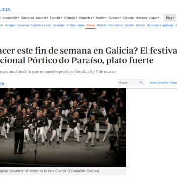 ¿Qué hacer este fin de semana en Galicia? El festival internacional Pórtico do Paraíso, plato fuerte