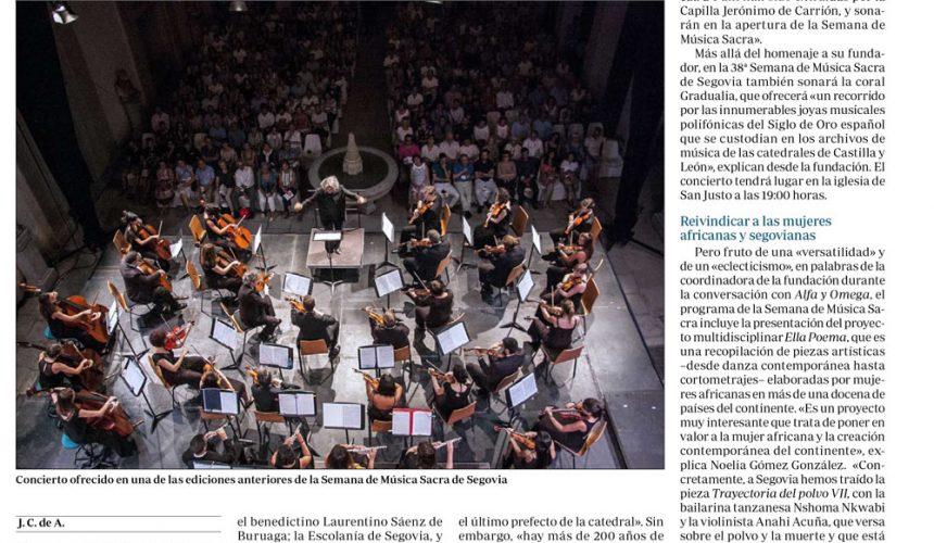 200 años de música sacra salen a la luz cuatro siglos después