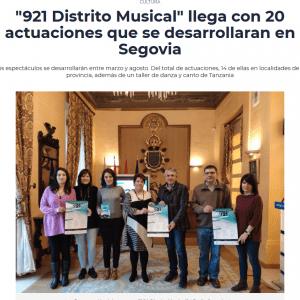 """""""921 Distrito Musical"""" llega con 20 actuaciones que se desarrollaran en Segovia"""