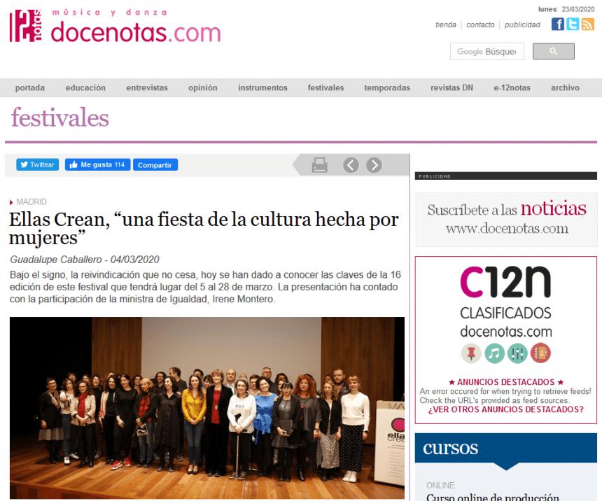 """Ellas Crean, """"una fiesta de la cultura hecha por mujeres"""""""