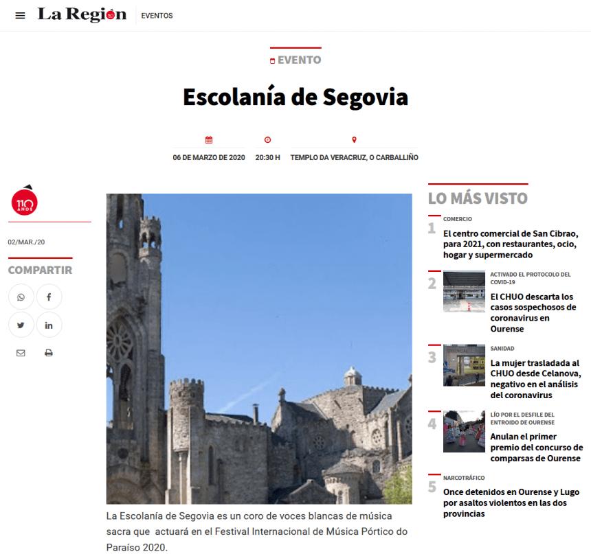 Escolanía en Ourense
