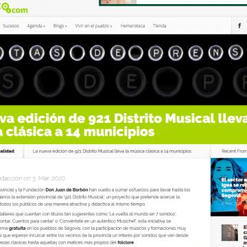 La nueva edición de 921 Distrito Musical lleva la música clásica a 14 municipios