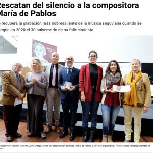 Rescatan del silencio a la compositora María de Pablos