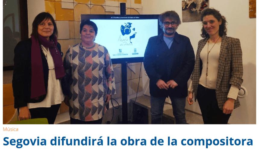 Segovia difundirá la obra de la compositora María de Pablos