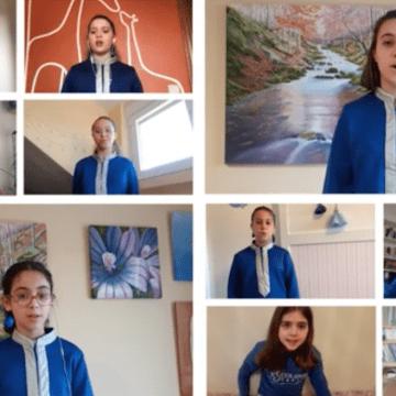La Escolanía de Segovia pone banda sonora al confinamiento con la grabación de un vídeo