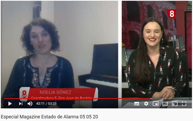 Entrevista Noelia Gómez en La 8 Segovia TV (a partir minuto 42')