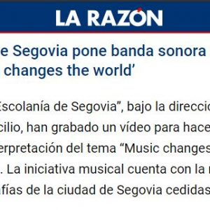 18:10 La Escolanía de Segovia pone banda sonora al confinamiento interpretando 'Music changes the world'