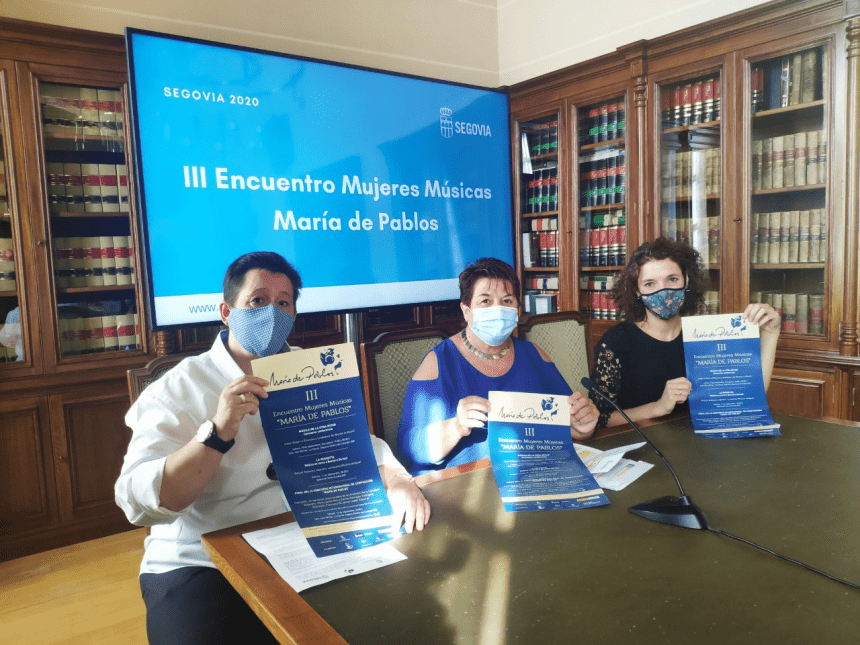 Raquel Andueza e Isabel Dobarro en el III Encuentro Mujeres Músicas 'María de Pablos'