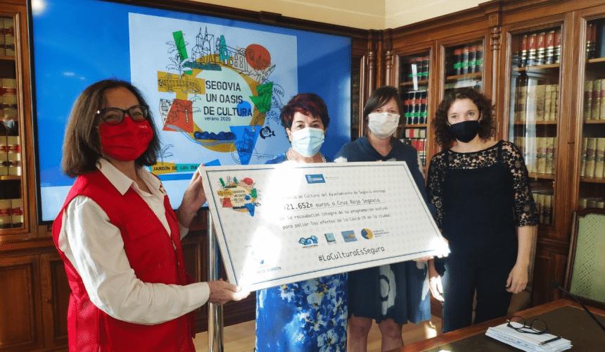 El Ayuntamiento dona  21.652  euros a Cruz Roja Segovia, recaudación íntegra de la programación estival de cultura