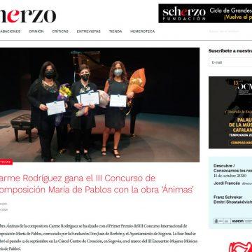 Carme Rodríguez gana el III Concurso de Composición María de Pablos con la obra 'Ánimas'