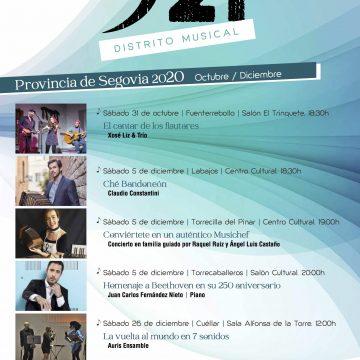 921 Distrito Musical recorrerá cinco localidades segovianas de octubre a diciembre para acercar la música a la provincia