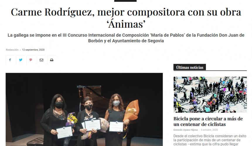 Carme Rodríguez, mejor compositora con su obra 'Ánimas'