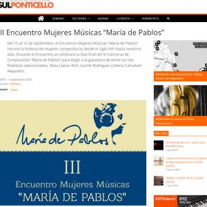 """III Encuentro Mujeres Músicas """"María de Pablos"""""""