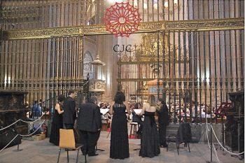 Concierto homenaje a San Frutos en la Catedral de Segovia con la Escolanía de Segovia, el grupo Schola Antiqua y la Capilla Jerónimo de Carrión