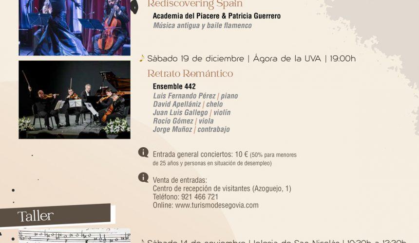 Academia del Piacere & Patricia Guerrero y el Ensemble 442 en el cartel musical de Otoño 2020 en Segovia